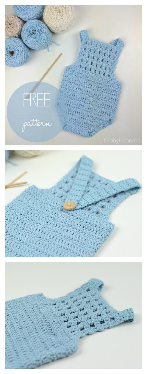 Crochet Baby Romper Free Patterns With Diagram Blue Orchid Pattern