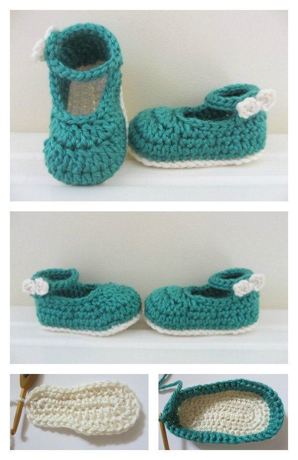How To Crochet Baby Booties Free Patterns : Crochet Baby Mary Jane Booties Free Patterns