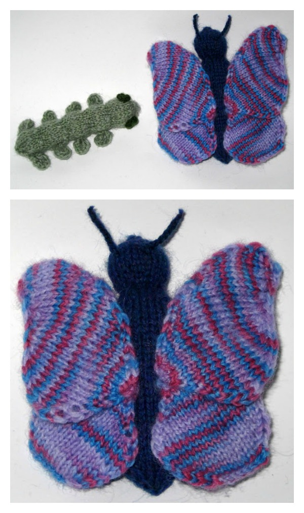 Butterfly Free Knit Pattern