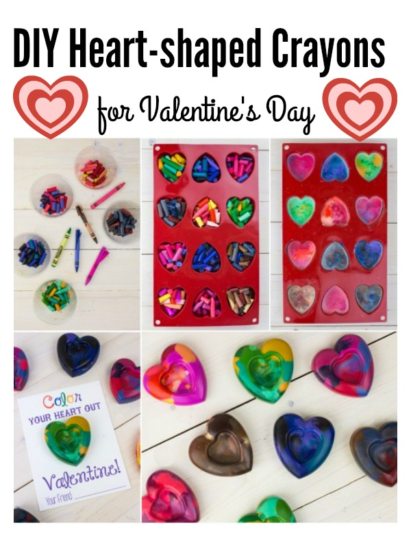 Create Your Own Heart-shaped Crayons for Valentine's Day