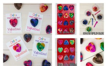 make heart-shaped crayons