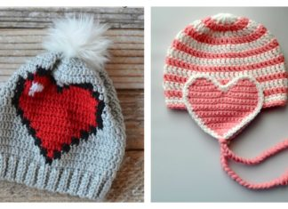 5 Adorable Crochet Heart Hat Free Patterns