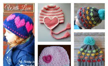 Crochet Heart Hat Free Patterns