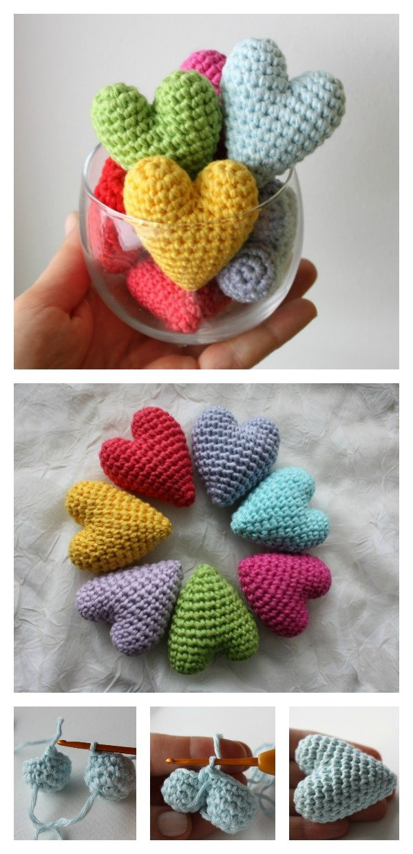 Amigurumi Love Heart Free Crochet Pattern | 1239x600