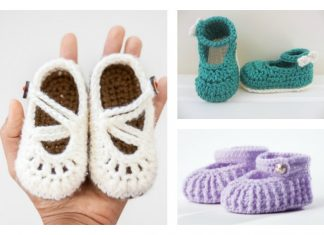 Crochet Baby Mary Jane Booties Free Patterns