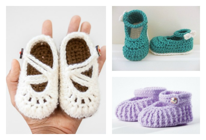 Crochet Baby Mary Jane Booties Free Patterns Cool Creativities