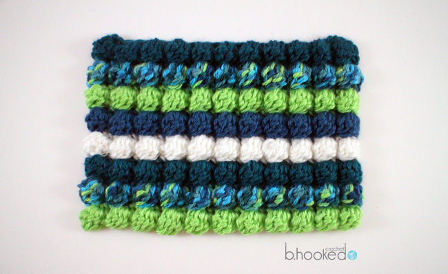 Crochet Bobble Stitch Free Pattern and Video Tutorial How to