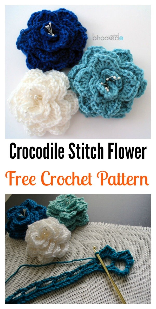 Crochet Crocodile Stitch Flower Free Pattern Cool Creativities