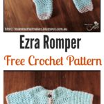 9c03ef450071 Blue Orchid Baby Romper Free Crochet Pattern - Cool Creativities