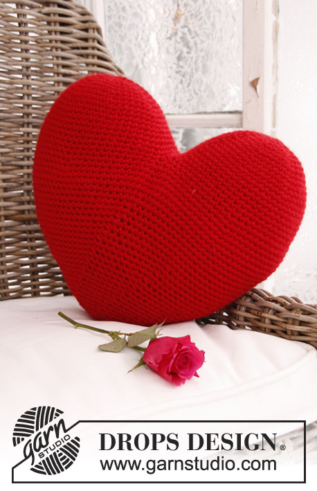 Crochet Heart Shaped Pillow Free Pattern