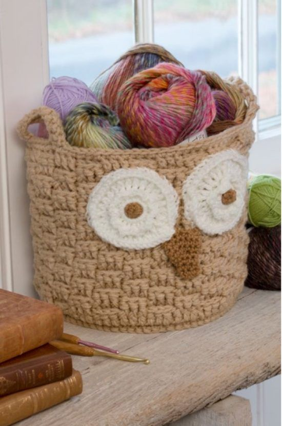 Crochet Hoot Owl Container Free Pattern and Video Tutorial