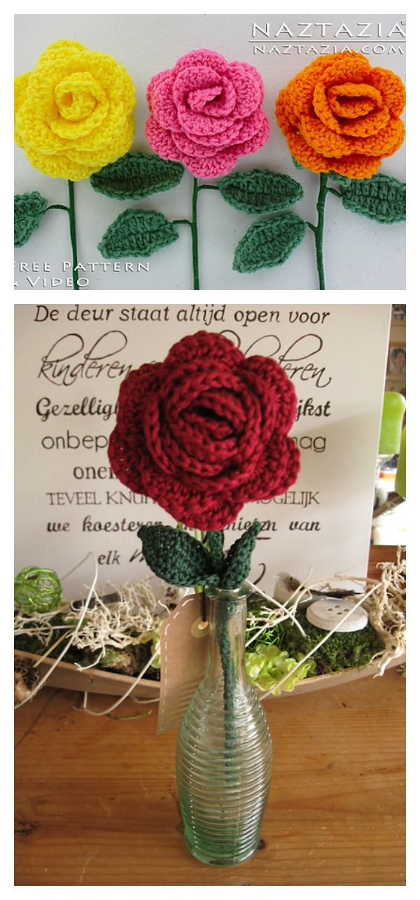 Crochet Lovely Rose Video Tutorial for Beginner