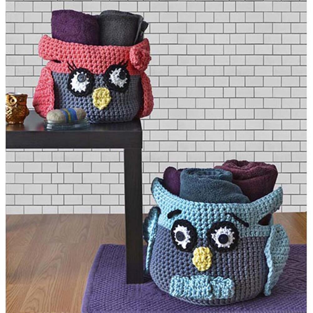Crochet Owl Basket Free Pattern