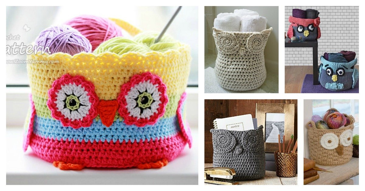 Crochet Hoot Owl Container Patterns