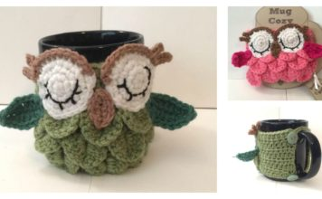 Crochet Owl Coffee/Tea Mug Cozy Free Patterns