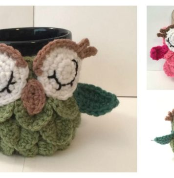 Crochet Owl Coffee/Tea Mug Cozy Free Patterns