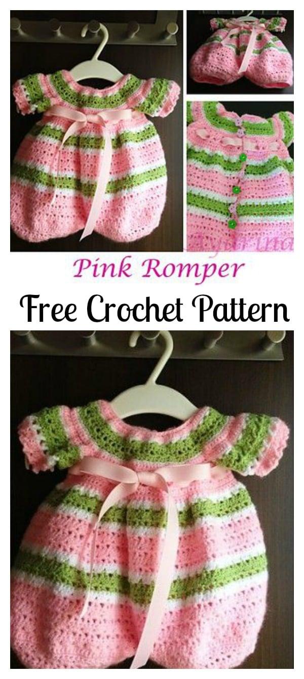 Crochet Pink Lollipop Romper Free Pattern