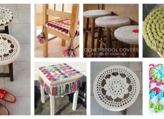 Crochet Stool Cover Free Patterns
