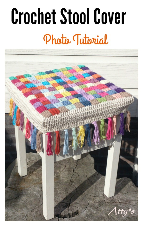 Crochet Stool Cover Photo Tutorial