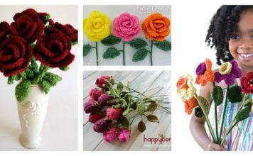 Valentine's Day Crochet Flowers Free Patterns