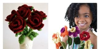 Crochet Valentine's Day Flowers Free Patterns