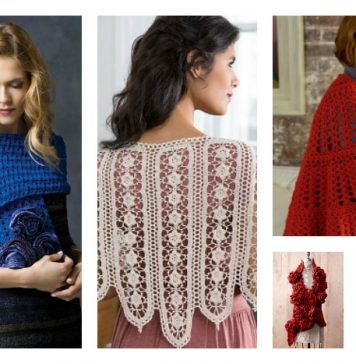 Valentine's Day Crochet Shawl Free Patterns