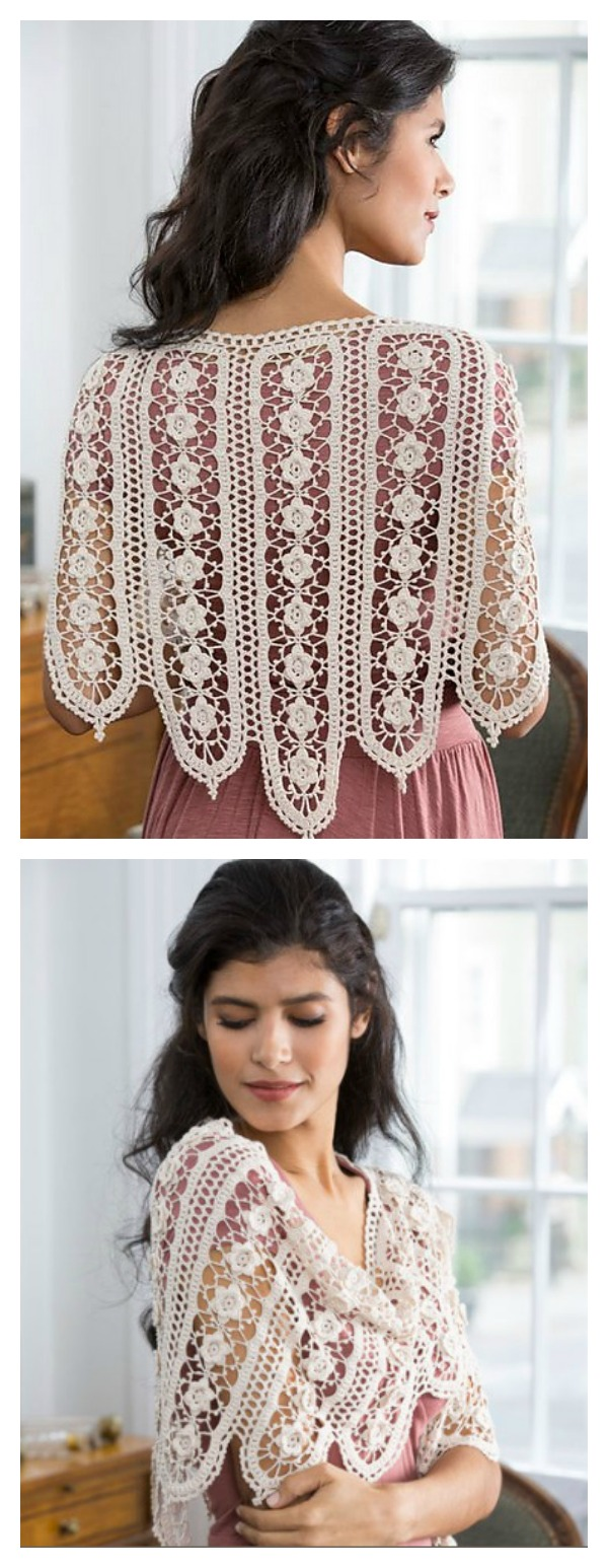 Crochet Wild Rose Shawl Free Pattern