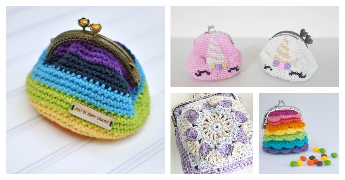 10 Crocheted Coin Purse Free Patterns