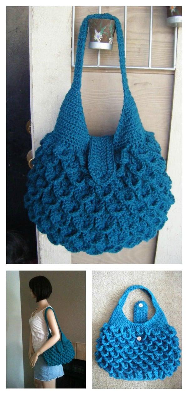 Crocodile Stitch Bag Crochet Pattern