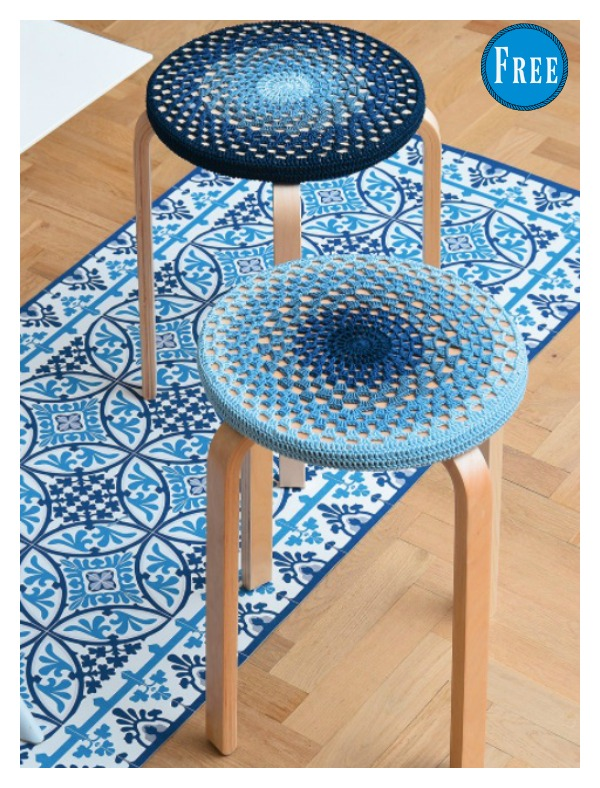 Easy Stool Covers Free Crochet Pattern