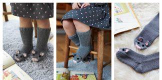 Knit Mice Socks Free Pattern
