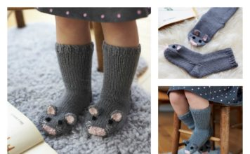 Knit Mice Socks Free Pattern