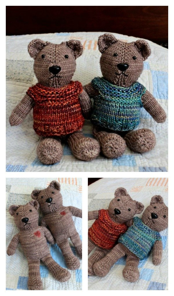 Knit Teddy Bear Free Pattern