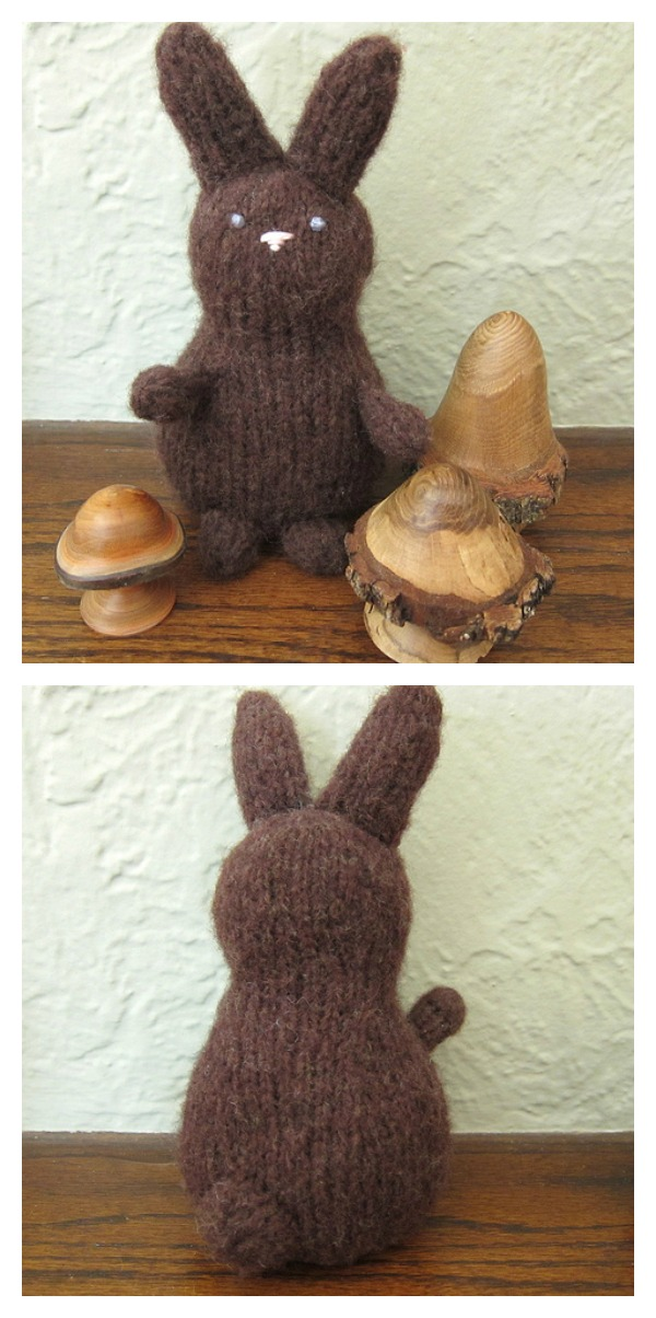 Knitted Chocolate Bunny Free Pattern