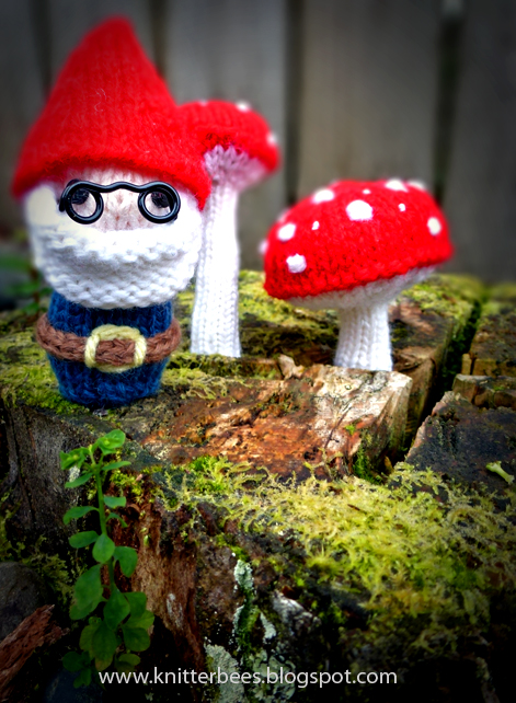 Knitted Mr Gnome Plush Free Toy Pattern