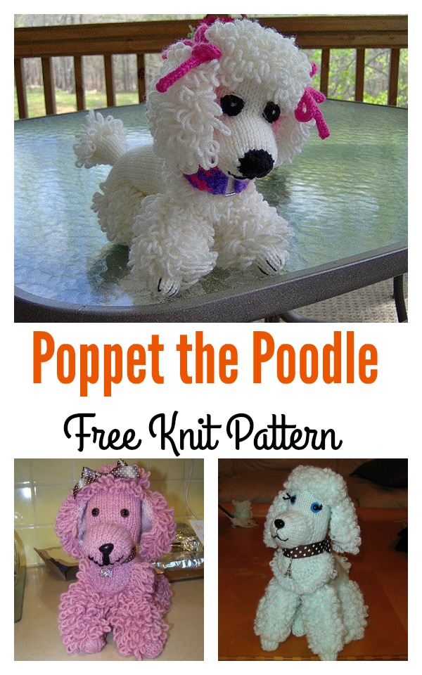 Poppet the Poodle Free Knit Pattern
