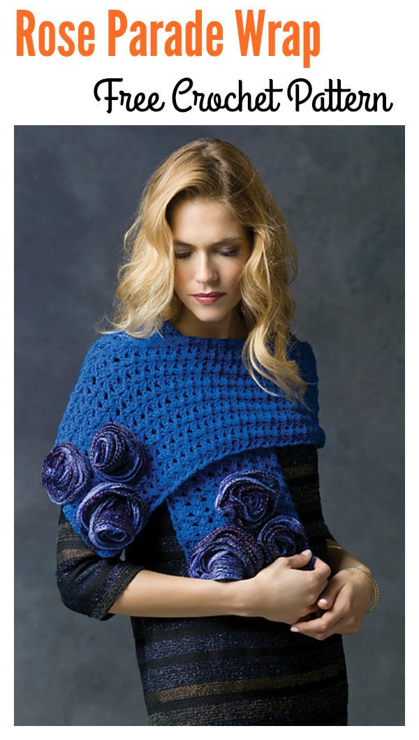 Rose Parade Wrap Free Crochet Pattern