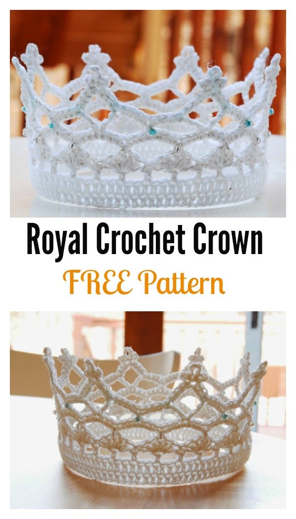 Royal-Crochet-Crown-FREE-Pattern.jpg (600×1052)