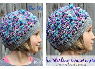 The Sterling Unicorn Hat Free Crochet Pattern