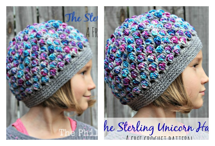 Free Crochet Pattern For Unicorn Hat : The Sterling Unicorn Hat Free Crochet Pattern