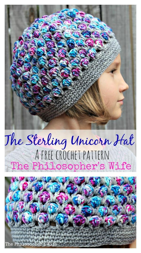 The Sterling Unicorn Hat Free Crochet Pattern - Cool Creativities 08019f60b54