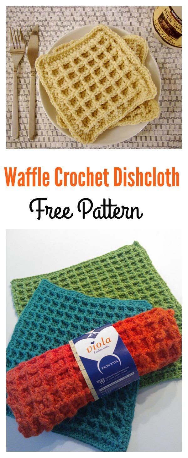 Waffle Crochet Dishcloth Free Pattern Cool Creativities