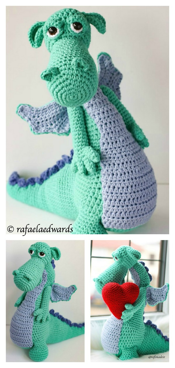 15 Free Crochet Dinosaur Patterns – A Cute Toy - A More Crafty Life | 1260x600