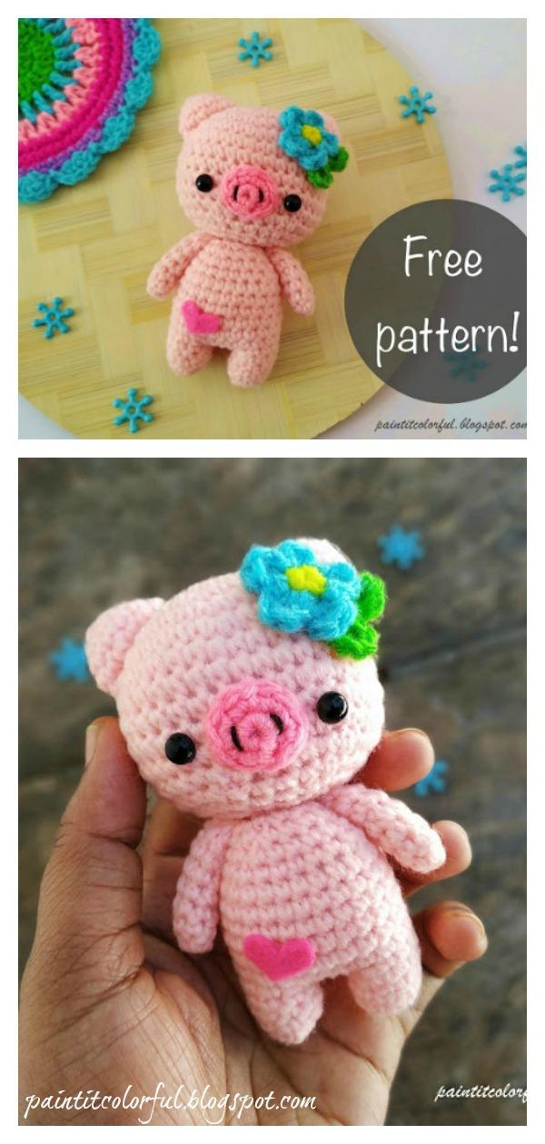 Amigurumi Pig Doll Toy Free Crochet Pattern