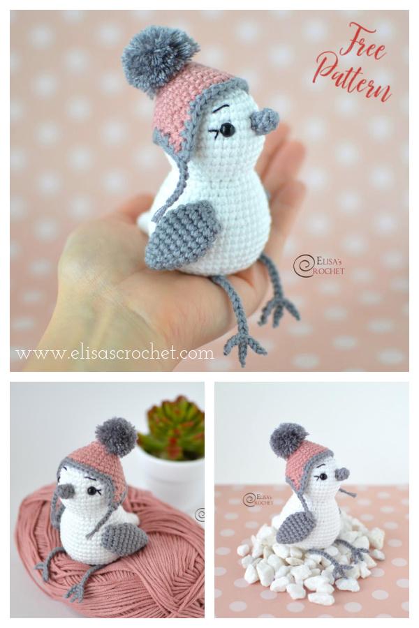Amigurumi Snowbird Free Crochet Pattern