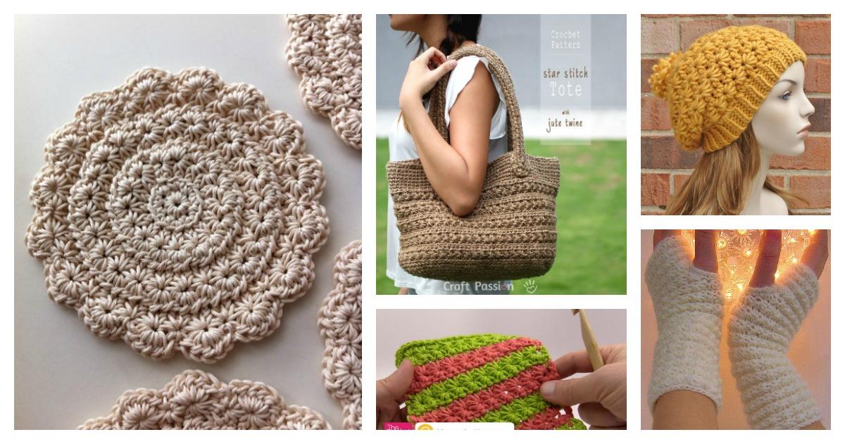 Beautiful Star Stitch Crochet Patterns And Projects