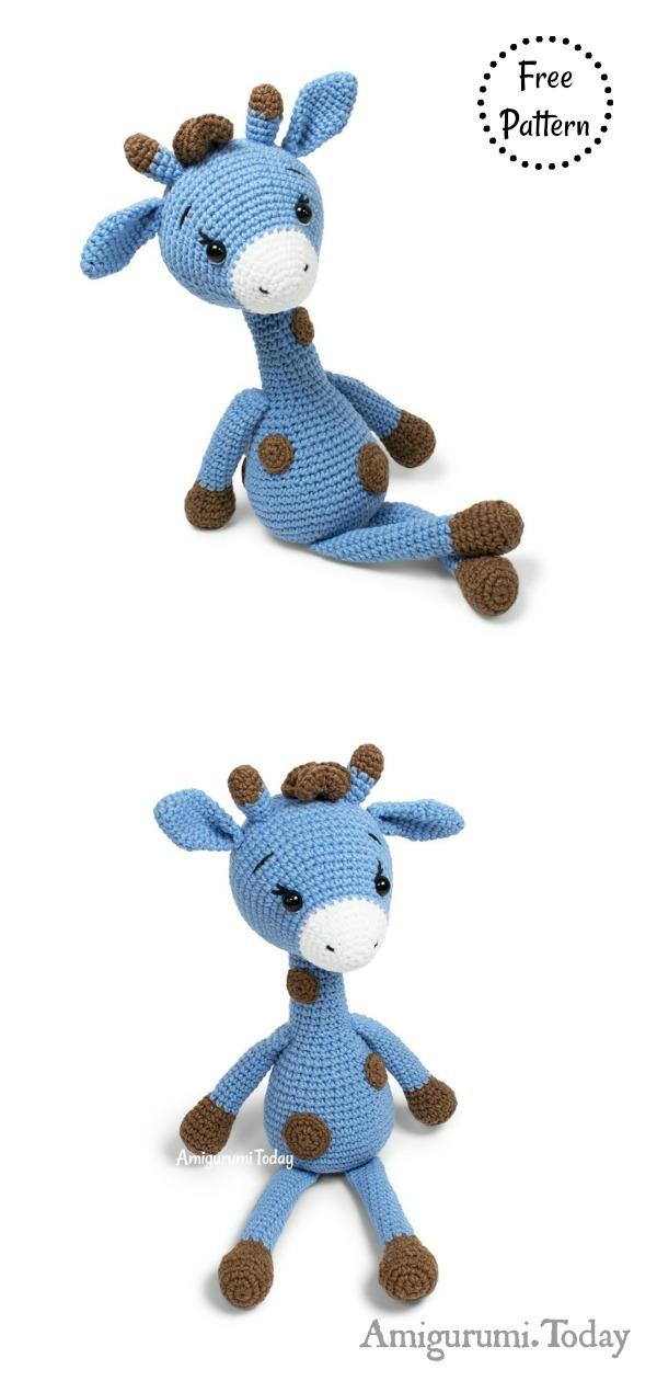Crochet Giraffe Baby Rattle free crochet pattern by Amigurumi ... | 1260x600
