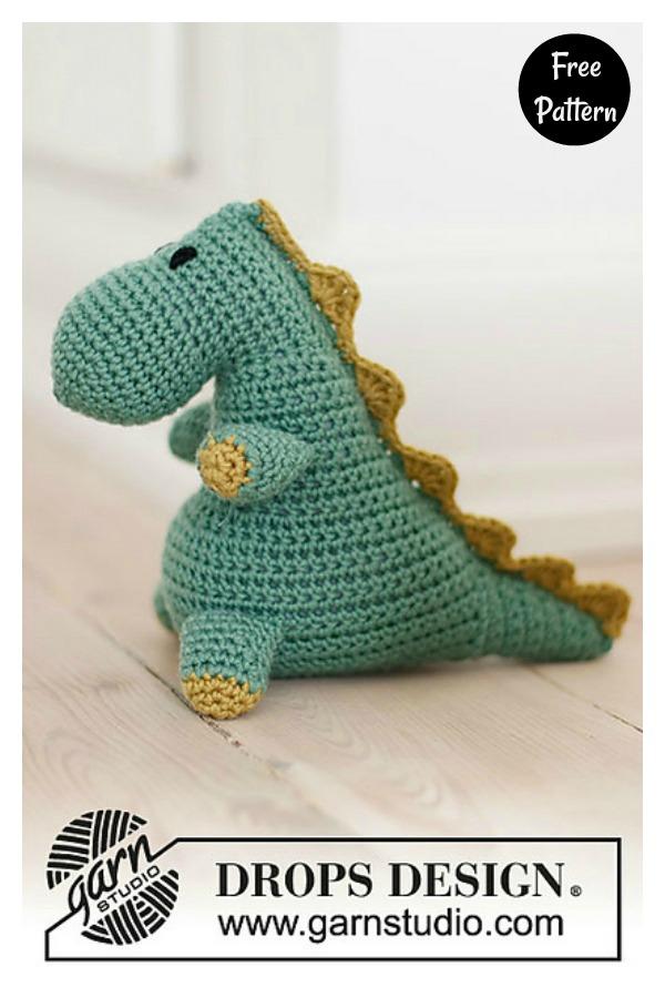 Bob the Dinosaur Free Crochet Pattern