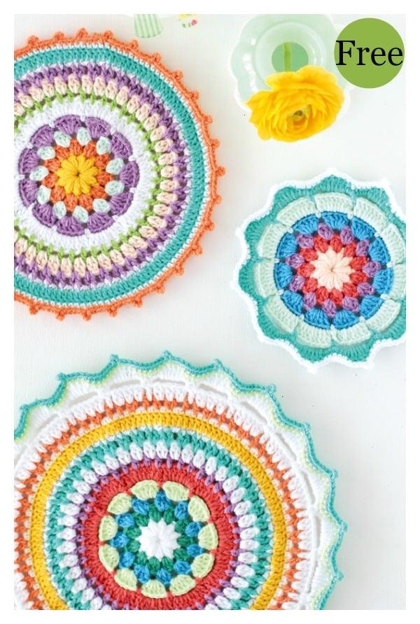 Colorful Crochet Mandala Free Patterns