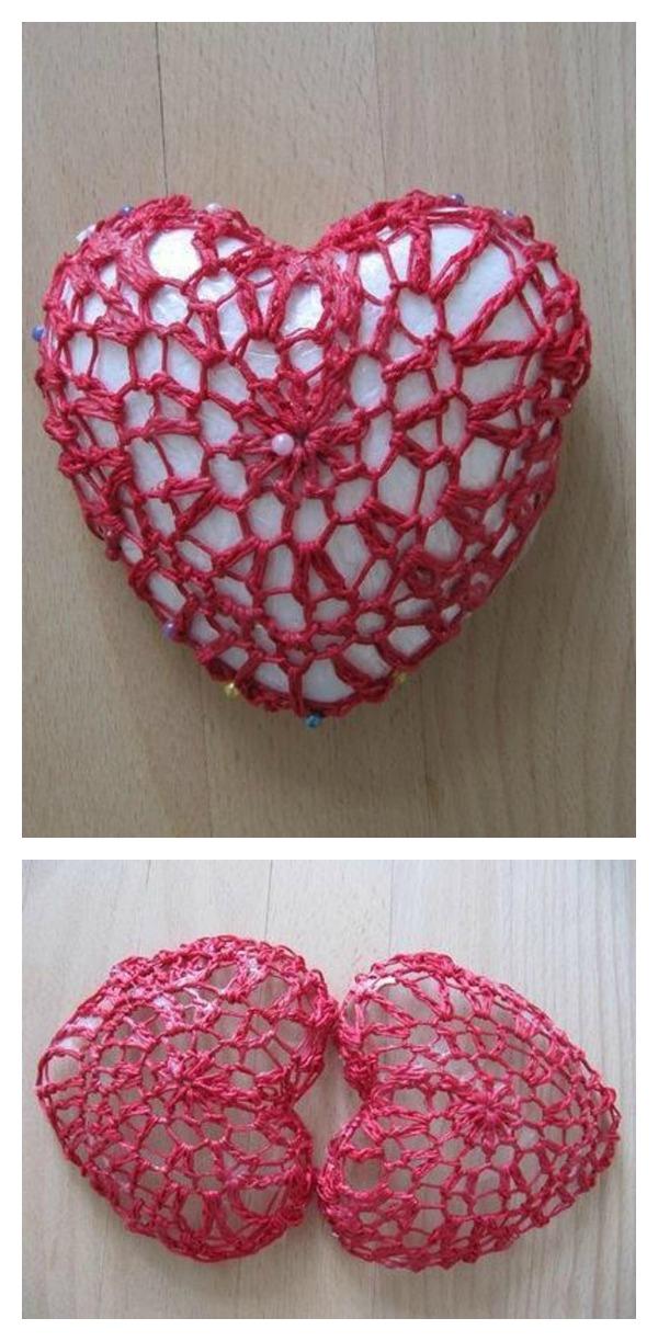 Crochet 3-D Valentine's Heart Free Pattern